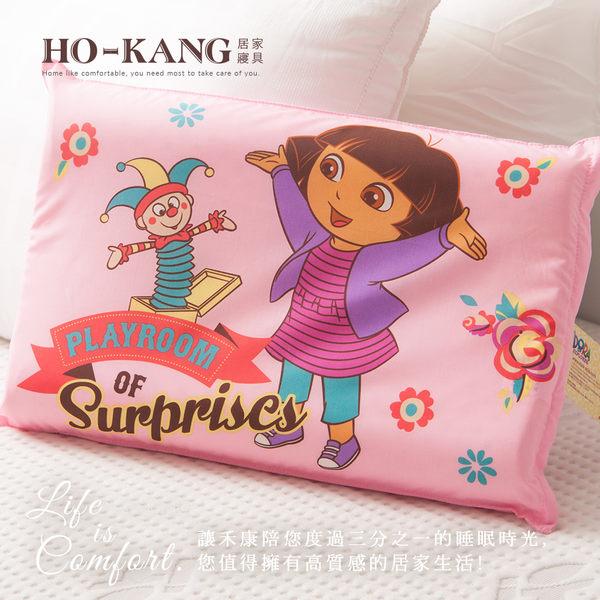 經典卡通 100%天然幼童乳膠枕-朵拉驚奇遊戲