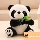 小寵物玩具抱抱熊毛絨玩具公仔竹子小熊貓黑白【小獅子】