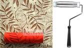 DIY雕花滾輪刷, 滾筒圖案任選, 壁面裝飾印花滾筒刷 油漆刷-單購滾筒