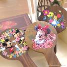 【Disney 】時尚質感原木/木頭手拿鏡-可愛系列