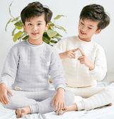 兒童睡衣三層保暖內衣套裝加厚雙面純棉家居服 優樂居