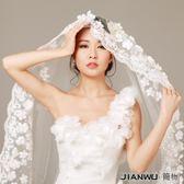 2018新款新娘婚紗禮服配件3米超長拖尾軟頭紗