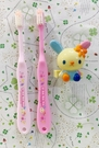【震撼精品百貨】U-Sa-Ha-Na_花小兔~三麗鷗花兔子外出型牙刷附蓋(2入)#03771