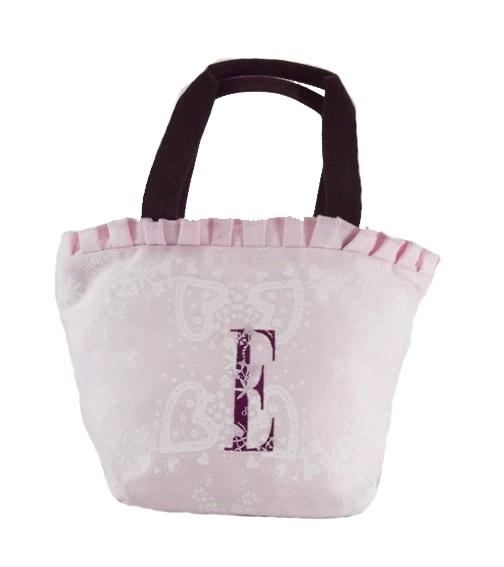 【ELLE】可愛花邊系列便當袋/手提袋/隨身包_粉色