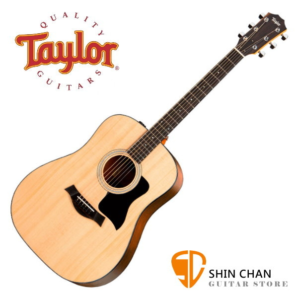 Taylor吉他 美國 Taylor 110E 雲杉面單板 / 可插電民謠木吉他 附原廠吉他袋 / Taylor 110e 台灣公司貨