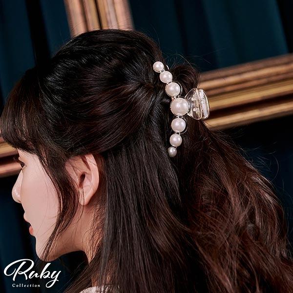 髮飾 珍珠鯊魚髮夾(大)-Ruby s 露比午茶