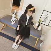 女童半身裙春款新款韓版中大童甜美風網紗裙兒童裙子童裝 店家有好貨
