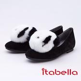 itabella.俏皮宣言 造型熊貓包鞋(9571-91黑色)