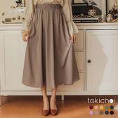 東京著衣-甜美加分多色簡約素面傘擺長裙-S.M.L.XL.XXL(172319)