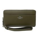 【COACH】手提式拉鍊零錢袋長夾手拿包(橄欖綠)