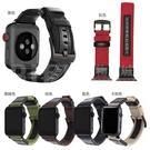 apple watch 1-6 吉普錶帶 適用蘋果123456代手錶 黑扣帆布錶帶 軍色迷彩尼龍錶帶