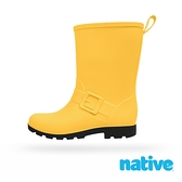 native 小童鞋 BARNETT 小巴尼特雨靴-蠟筆黃x黑