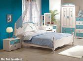 【德泰傢俱工廠】貝妮斯 5尺雙人床(粉藍色) B002