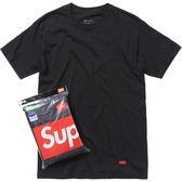 【現貨不用等】 CLASSICK  Supreme  小LOGO TEE 方塊 素T 短袖 上衣 棉質 基本款 單件 黑色 SUP007