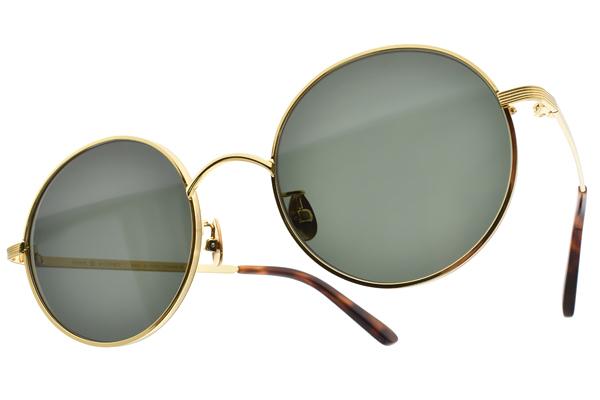 NINE ACCORD 太陽眼鏡 KISSING-MUZE C01 (金) 文青風圓框款 # 金橘眼鏡
