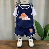 男童夏裝套裝2021年新款洋氣寶寶籃球服潮兒童帥氣短袖運動兩件套 幸福第一站