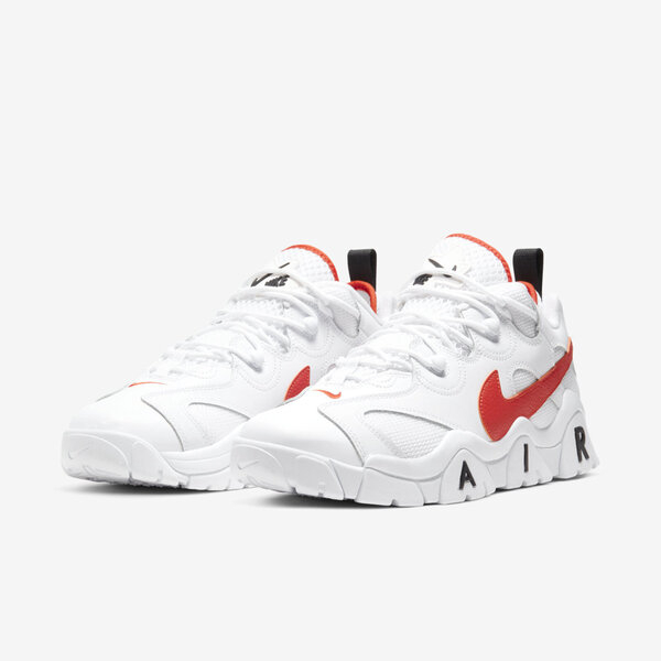Nike Air Barrage Low Emb [CJ5395-100] 男鞋 運動 休閒 籃球 穿搭 舒適 白 橘