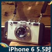 iPhone 6/6s Plus 5.5吋 立體相機保護套 軟殼 3D仿真造型 二合一組合款 附掛繩 矽膠套 手機套 手機殼