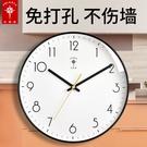 北極星掛鐘客廳北歐鐘錶掛墻家用時鐘現代簡約大氣掛錶時尚石英鐘 【618特惠】