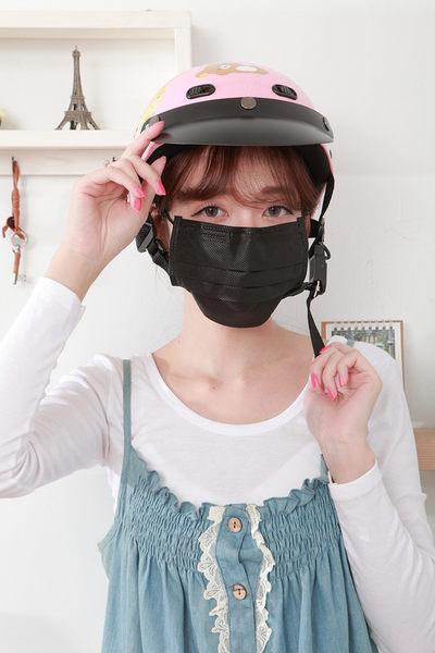 黑色口罩【雨晴牌-抗UV四層活性碳不織布口罩】◎成人-黑色◎防煙味廢棄味 無痛耳帶久戴不痛