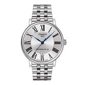 ◆TISSOT◆CARSON PREMIUM 都會品味紳士機械錶T122.407.11.033.00白X銀