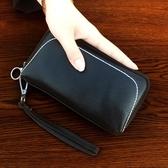 女士小包包2018新款正韓真皮手拿包頭層牛皮休閒手機包貝殼手抓包【快速出貨】