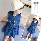 女童牛仔裙 女童夏裝韓版4-5歲寶寶夏季洋氣牛仔裙子LJ8716『miss洛羽』