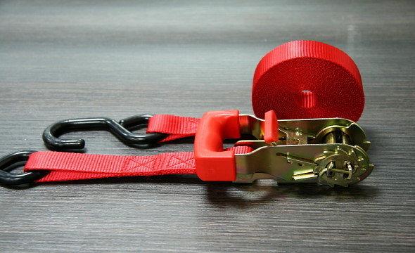 1英吋貨物紅把手拉器捆綁帶