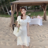 夏日告白方領泡泡袖洋裝連身裙伴娘【38-16-8013618285-20】ibella 艾貝拉