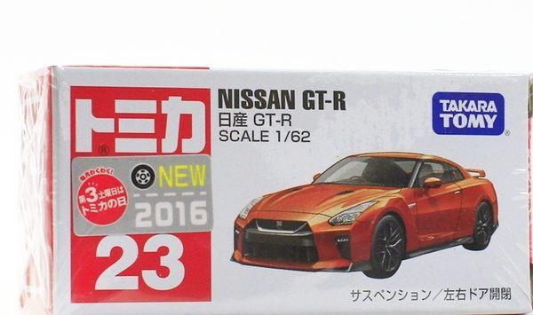 TOMICA 多美小汽車【TM023 NISSAN GT-R -85993橘】
