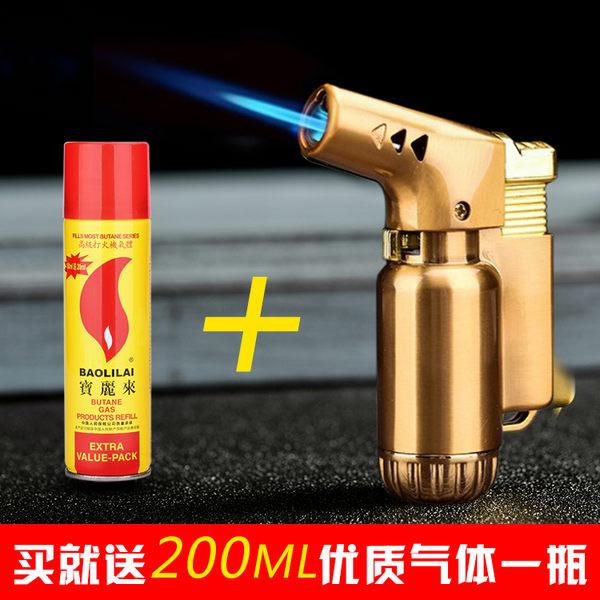 耐高溫金屬創意直沖防風充氣打火機個性噴槍點火器雪茄焊槍打火機 英雄聯盟igo