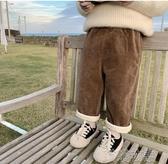 男童長褲-童裝兒童冬裝燈芯絨長褲潮新款中小童休閒褲男童加絨褲 喵喵物語