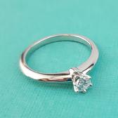 【奢華時尚】秒殺推薦!TIFFANY VVS2 PT950圓型六爪0.18克拉鑽石戒指(全新未使用)#23635