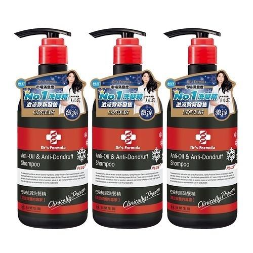 《台塑生醫》Dr's Formula控油抗屑洗髮精升級版(激涼款)580g*3入