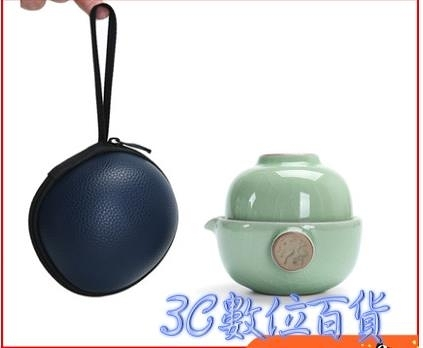 龍潯快客杯便攜式旅行茶具套裝家用一壺一二兩杯陶瓷戶外汝窯茶壺 快速出貨