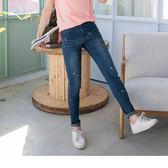 OB嚴選《BA0327-》No.1百搭款~嚴選韓版人氣爆瘦微刷破牛仔窄管褲--適 XS~XL