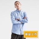【XNJF】新款男士牛津紡純色長袖襯衫(2色/39-42)