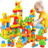 兒童積木拼裝玩具益智6-7-8-10歲男孩子塑料拼插寶寶1-2-3周歲女WY 萬聖節