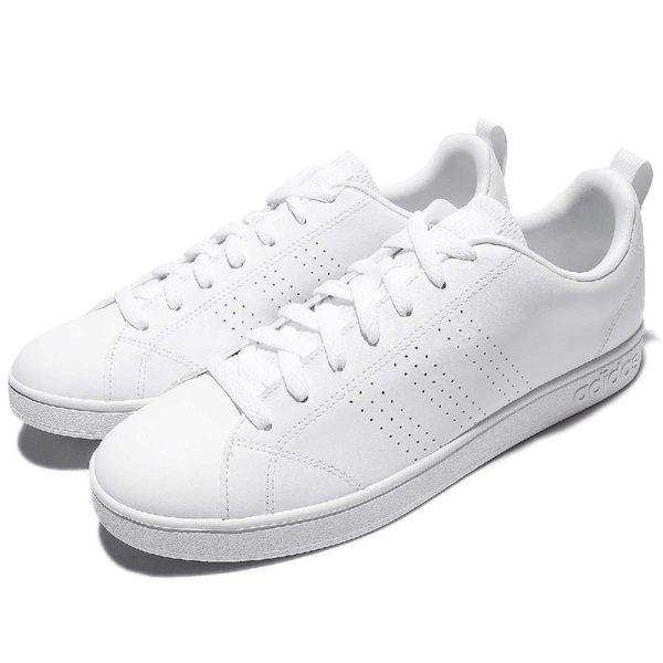 adidas 休閒鞋 Advantage Clean VS 白 全白 Neo 基本款 運動鞋 男鞋【PUMP306】 B74685