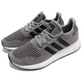【六折特賣】adidas 休閒鞋 Swift Run 灰 黑 男鞋 女鞋 編織鞋面 襪套式 運動鞋【PUMP306】 CQ2115