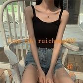 針織吊帶背心女夏季韓版復古上衣內搭短款外穿【橘社小鎮】