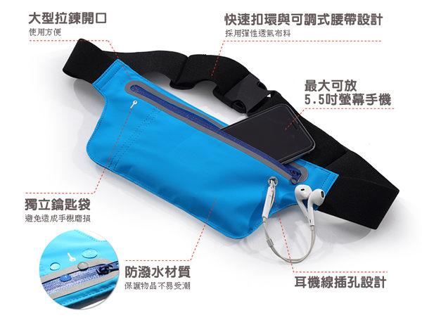 【FIT SO】WSP1 防水運動腰包 跑步自行車運動腰包 手機腰包 3C收納包 慢跑 路跑
