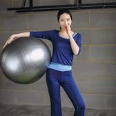 2018新款瑜伽服女速干顯瘦遮肚瑜伽套裝健身