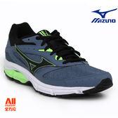 【Mizuno美津濃】男款慢跑鞋 WAVE SURGE -灰藍 (男款慢跑鞋 WAVE SURGE -灰藍 (J1GC171311))全方位跑步概念館