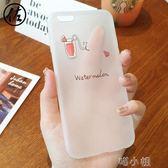 iphone6手機殼創意矽膠情侶6s蘋果6plus小清新ip6全包軟透明 喵小姐