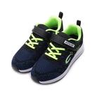 C&K 飛織氣墊運動鞋 黑綠 大童鞋...
