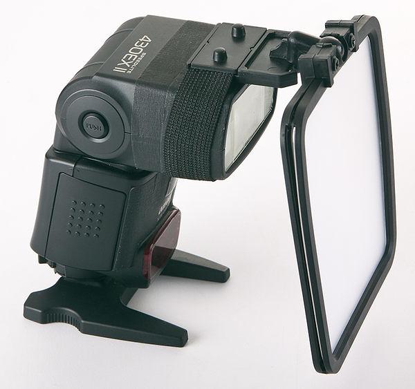 呈現攝影-閃光燈專用反光板、柔光板、反射板有綁帶式固定設計 可360度旋轉 活動展場SHOW GIRL