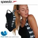 【SPEEDO】女運動連身泳裝 Allover Panel 黑白 SD8128913503 原價2680元