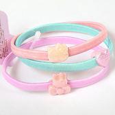 《Sanrio》HELLO KITTY可愛裝飾彩色鬆緊髮圈組-甜美系粉(一組三條入)_275450N