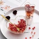 便當盒 創意愛心金邊水果撈盒子網紅玻璃碗甜品碗水果蔬菜沙拉碗早餐碗 艾瑞斯居家生活